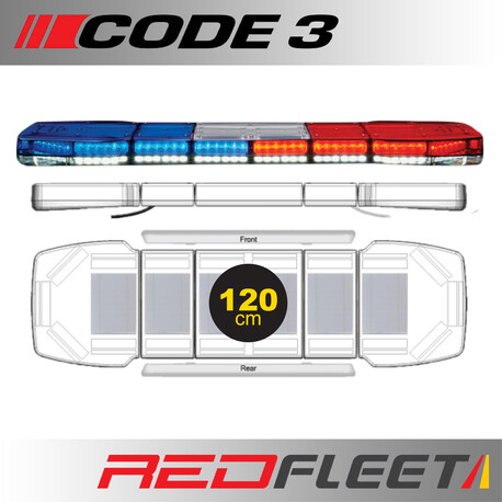 120CM - CODE 3 PURSUIT 25 Series L.E.D. Warning Light Bar