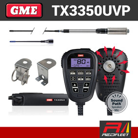 GME TX3350UVP UHF CB Two Way In Car Vehicle Radio Value Pack