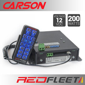 "CARSON SC-411HD ELITE ""Dual-Tone"" 200 Watt Siren Amplifier with Hand-Held Control & Microphone"