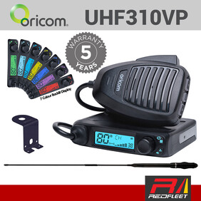 ORICOM UHF310VP VALUE PACK *BLACK* ANU220 Antenna & Bracket Kit