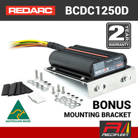REDARC 50 Amp 12V / 24V DC to DC Dual Battery In-Vehicle Charger with Solar BCDC1250D