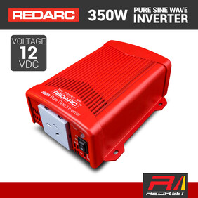 REDARC 350W 12VDC Pure Sine Wave Power Inverter for Vehicles