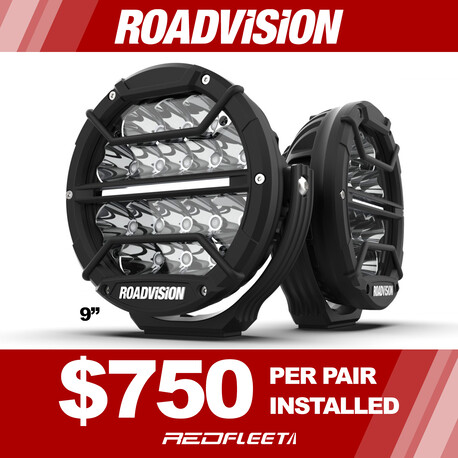 ROADVISION DOMINATOR DL SERIES L.E.D. DRIVING LIGHTS PAIRED KIT (FREE INSTALLATION)