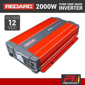 REDARC 2000W 12VDC Pure Sine Wave Power Inverter for Vehicles