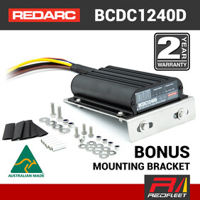 REDARC 40 Amp 12V / 24V DC to DC Dual Battery In-Vehicle Charger with Solar BCDC1240D
