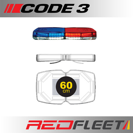 60CM - CODE 3 PURSUIT 25 Series L.E.D. Warning Light Bar