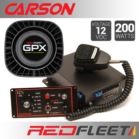 CARSON SA-441M DUAL-TONE SIREN + 2x GPX100 SPEAKERS BUNDLE PACK