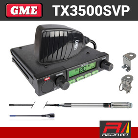 GME TX3500SVP UHF CB Two Way In Car Vehicle Radio Value Pack