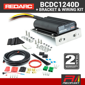 REDARC 40 Amp BCDC1240D Battery Charger with Universal Bracket & Wiring Kit