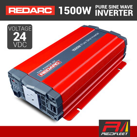 REDARC 1500W 24VDC Pure Sine Wave Power Inverter for Vehicles