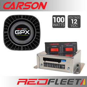 CARSON SA-361D SIREN + GPX100 SPEAKER BUNDLE PACK
