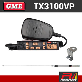 GME TX3100VP UHF CB Two Way In Car Vehicle Radio Starter Kit Value Pack