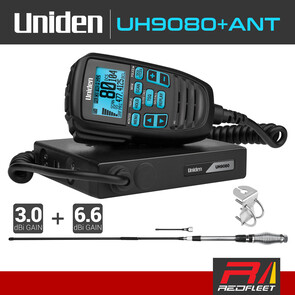 UNIDEN UH9080+ANT Accessory Pack UHF CB Two Way In Car Vehicle Radio