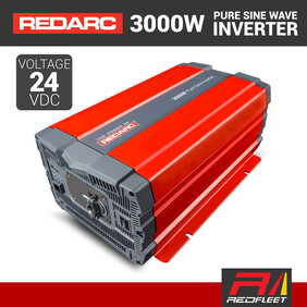 REDARC 3000W 24VDC Pure Sine Wave Power Inverter for Vehicles