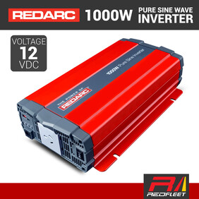 REDARC 1000W 12VDC Pure Sine Wave Power Inverter for Vehicles