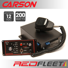 "CARSON SA-441 MAGFORCE ""Dual-Tone"" 200 Watt Siren Amplifier with Public Address Speaker Microphone"